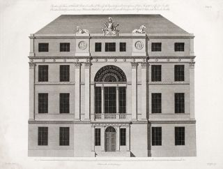 Elevation of a House at Whitehall Restore as a Board Room for the Paymaster General & Commissioners of Chelsea Hospital & Office for Invalids. After Robert ADAM, d.1794, James ADAM.