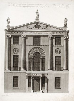Elevation of the House of the Society for the Encouragement of Arts, Manufacturers & Commerce,...