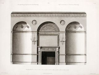 Section of the Chimneyside of the Antichamber in the Principal Story. After Robert ADAM, James...