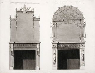 Two Chimney-pieces in the First and Second Withdrawing-rooms, with Glass Frames over them. After...