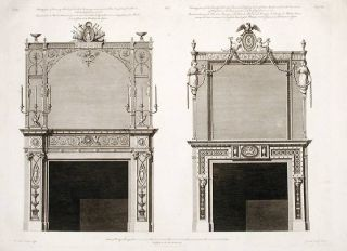 Two Chimney-pieces in the Great Withdrawing-room and the Countess of Derby's Dressing-room.
