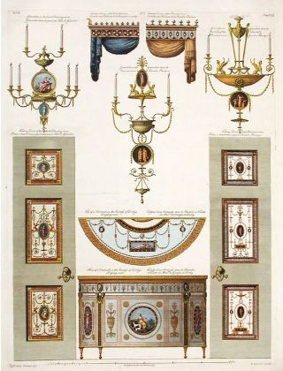 Contains some of the Parts at large of the Finishing and Furniture of the Earl of Derby's House. After Robert ADAM, d.1794, James ADAM.
