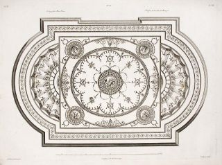 Ceiling of the Music Room. After Robert ADAM, James ADAM, d.1794