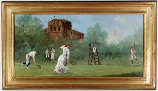 Edwardian Tennis: Mixed Doubles. Marco CERI