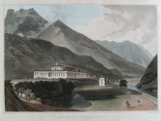 The Palace of the Deib Rajah at Tassisudon. William - Samuel DAVIS DANIELL, artist and explorer,...