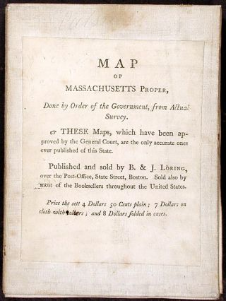 Map of Massachusetts proper compiled from Actual Surveys made by Order of the General Court, and under the inspection of agents of their appointment