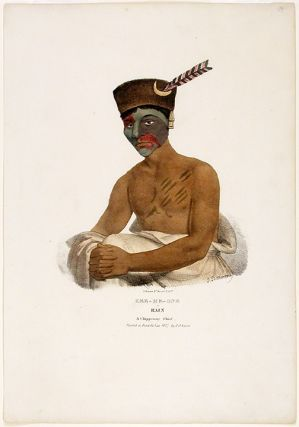 Kee-Me-One or Rain A Chippeway Chief. Painted at Fond du Lac 1827 by J. O. Lewis. After James...
