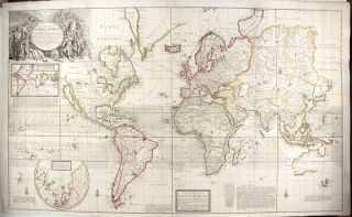 A New and Correct Map of the Whole World, Shewing ye Situation of Its Principal Parts. Herman MOLL