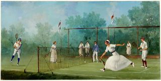 Edwardian Tennis Match: Mixed Doubles. Marco CERI