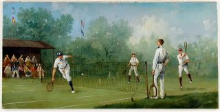 Edwardian Tennis Match: Men's Doubles. Marco CERI