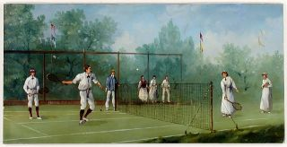 Edwardian Tennis Match. Marco CERI