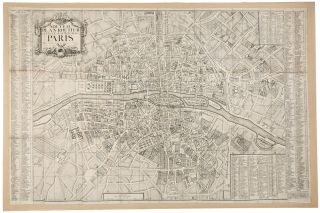 18th century map of Paris] Nouveau Plan Routier de la Ville et Faubourgs de Paris. HENAUT,...