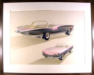 1959 Conceptual Drawing of a Sports Car. George LAWSON