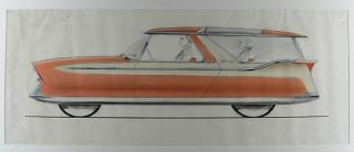 Designs for a Nash Metropolitan Station Wagon. Richard ARBIB, attributed to