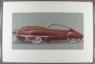"""Buick Glass-Top Torpedo Concept Art"" UNKNOWN"