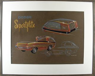 """Dodge Sportflite"" Concept Art. William A. MOORE"