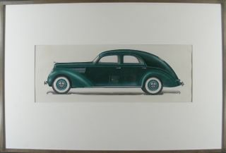 1930's concept car design. Otto HOFFMANN, attributed to