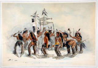 The Snow-Shoe Dance. George CATLIN