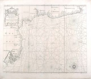 A Chart of the Coast of Guinea from Cape de Verde to Cape Bona Esperança. John THORNTON, Samuel, fl