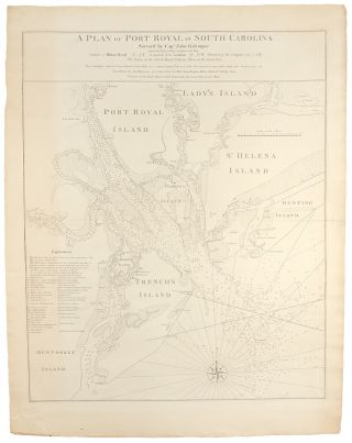 A Plan of Port Royal in South Carolina. Survey'd by Capn. John Gascoigne. John GASCOIGNE, William...