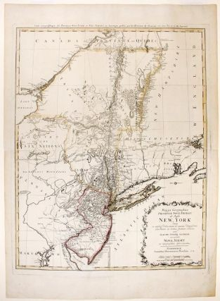 NEW YORK AND NEW JERSEY] Mappa Geographica Provinciae Novae Eboraci ab Anglis New York dictae ex...