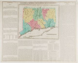 Connecticut. Geographical, Historic and Statistical Map of Connecticut. Henry Charles CAREY,...