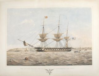 United States Frigate St Lawrence 50 Guns Sailing off Osborne, Isle of Wight. Thomas Goldsworth...