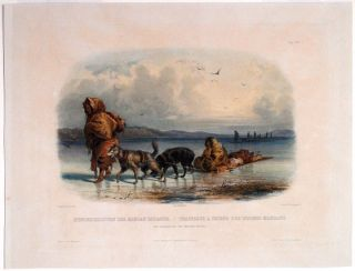 Dog-Sledges of the Mandan Indians. Karl BODMER