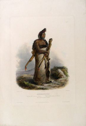 Mexkemahuastan. Chief of the Gros-ventres des Prairies. Karl BODMER