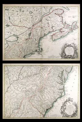 North America - Pair of Maps] Partie Septentrionale Des Possessions Angloise en Amerique. Pour...