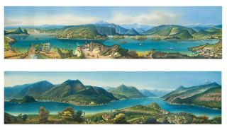 Lake Como [and:] Lake Maggiore. 19th century ITALIAN SCHOOL