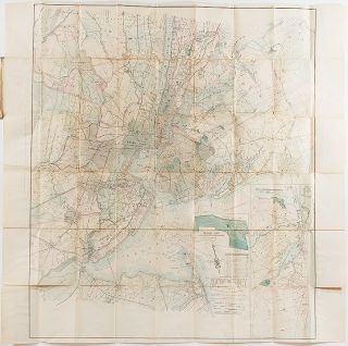 Topographical Map of New York and Vicinity Embracing Fifteen Cities and Above 1700 Square Miles....