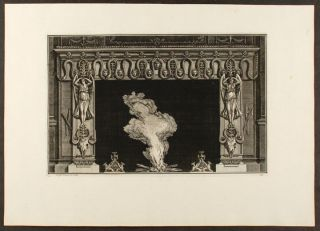 "Plate of an neo-Classical fireplace, from ""Diverse maniere d'adornare i cammini ed ogni altra..."