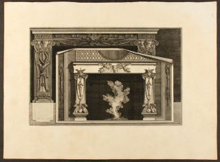 "Plate of two neo-Classical fireplaces, from ""Diverse maniere d'adornare i cammini ed ogni altra..."