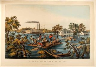 High Water in the Mississippi. CURRIER, IVES - After Francis F. PALMER, publishers
