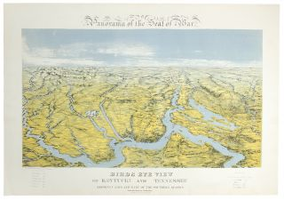 Panorama of the Seat of War. Birds Eye View of Kentucky and Tennessee showing Cairo and part of...