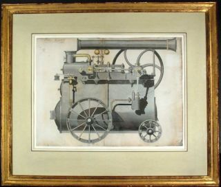 Design for a locomotive, circa 1840. John HAVERON, fl