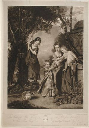 The Penn Family. After Sir Joshua REYNOLDS, - Charles TURNER, engraver.