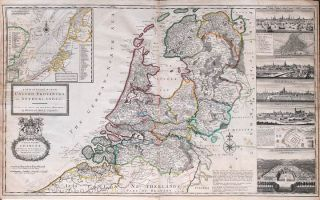 A New and Exact Map of the United Provinces, or Netherlands &c. Herman MOLL