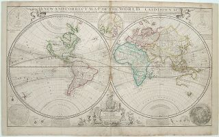 A New and Correct Map of the World, Laid Down According to the Newest Discoveries, and From the Most Exact Observations. Herman MOLL.