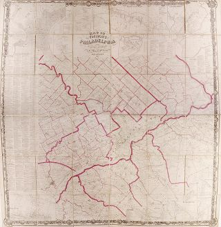 Map of the Vicinity of Philadelphia From actual surveys by D.J. Lake and S.N. Beers Assisted by...