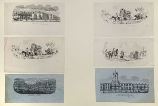 [Group of six lithographic vignettes of scenes in and around Buenos Aires]. ARGENTINA. - Rodolfo...