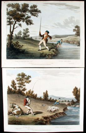 A pair of angling prints each captioned with quotes from Horace and Virgil:] Sic omnia retro ......