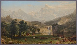 The Rocky Mountains (Lander's Peak). Albert BIERSTADT