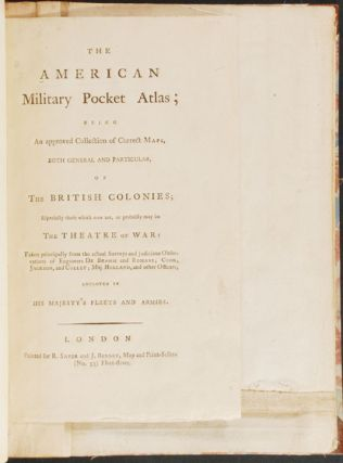 The American Military Pocket Atlas; being an approved collection of correct maps, both general...