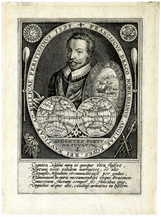 [Engraved portrait of Francis Drake]