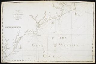 Chart of the Coast of America from Cape Hateras [sic] to Cape Roman from the actual surveys of...