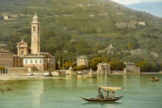 [Isola Bella , Lago Maggiore; and the Bell Tower of Bellagio, Lago Como]