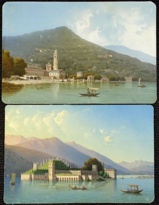 Isola Bella , Lago Maggiore; and the Bell Tower of Bellagio, Lago Como]. Luigi BARTEZZATI