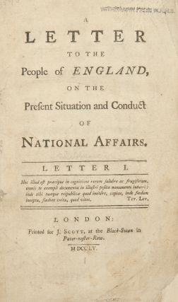 A Letter to the People of England, on the present situation and conduct of national affairs....